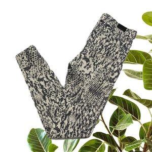 Kookai Size 34 Abstract Animal Pattern Jean Cream